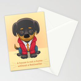 Rottweiler Pup Stationery Cards