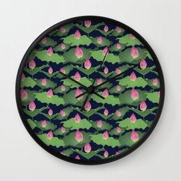 Pink Blush Night Wall Clock