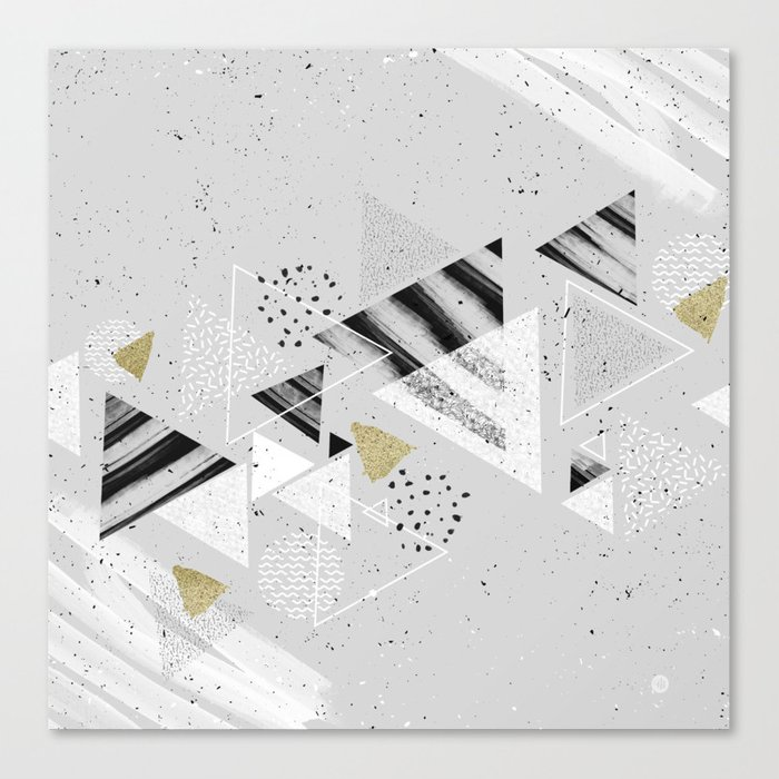 Geometric abstract triangles Canvas Print