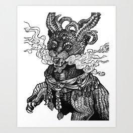Chinese Guardian Lion Art Print