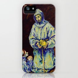 St Francis and Brother Leo Meditating on Death (after El Greco) iPhone Case