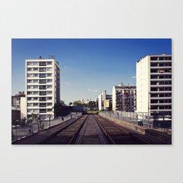Viaduc sur le cours de Vincennes // Viaduct over Vincennes Canvas Print