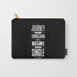 A Journey of a Thousand Miles Begins with a Single Step modern typography minimalism room wall decor Carry-All Pouch