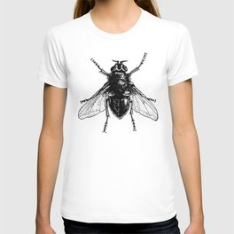 black and white fly T-shirt