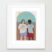 pulp fiction Framed Art Prints featuring Pulp Fiction by Vannia Palacio