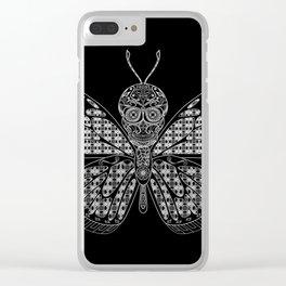 black mothman prophecy ecopop Clear iPhone Case
