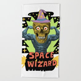 SPACE WIZARD Beach Towel