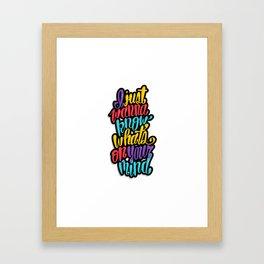 On Your Mind Framed Art Print