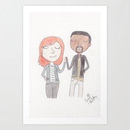 High fives Art Print