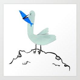 Gavina Seagull Art Print