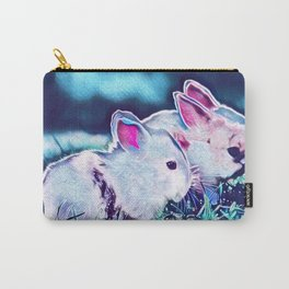 Night Time Dwarf Bunnies Carry-All Pouch