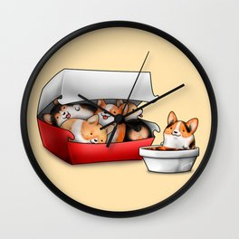 Corgi Nuggets Wall Clock