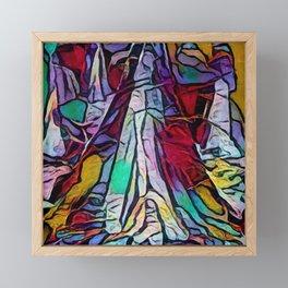 Small Tube of Stone Framed Mini Art Print