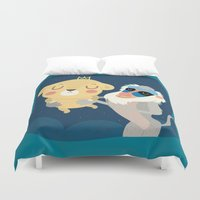 stephen king Duvet Covers featuring King by Maria Jose Da Luz