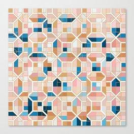 Mediterranean Geometric Shapes I. Canvas Print