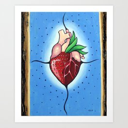 The Heart Berry Art Print