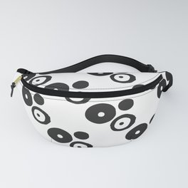Modern abstract black and white spotted geometric pattern Fanny Pack
