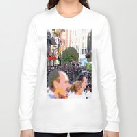 it crowd Long Sleeve T-shirts featuring Crowd  by osile ignacio