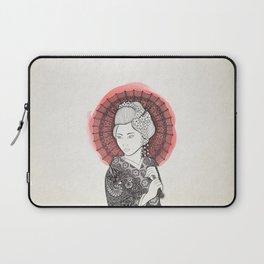 Japanese flag and Geisha Laptop Sleeve