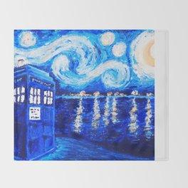 Tardis Starry Art Night Throw Blanket