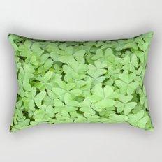 Green Clovers Rectangular Pillow