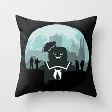 Ghostbusters versus the Stay Puft Marshmallow Man Throw Pillow
