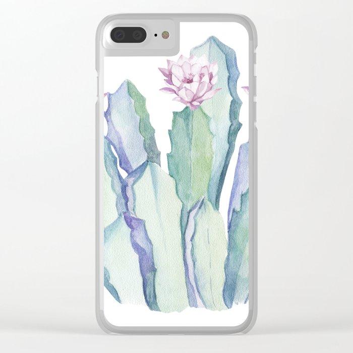 Cactus in Love Clear iPhone Case