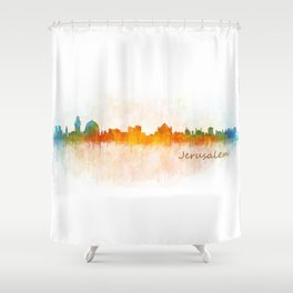 Jerusalem City Skyline Hq v3 Shower Curtain