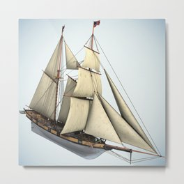 Schooner Halcon Sailboat Metal Print