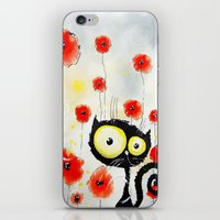poppies iPhone & iPod Skins featuring Poppies  by Katja Main