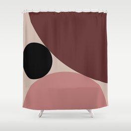 Circular Abstract IV Shower Curtain