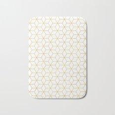 Gold + Geometric #society6 #decor #pattern Bath Mat