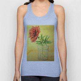 flower in a glass . illustration . art Unisex Tank Top