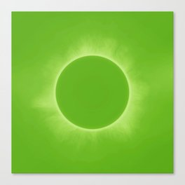 Solar Eclipse in Fresh Green Mint Colors Canvas Print
