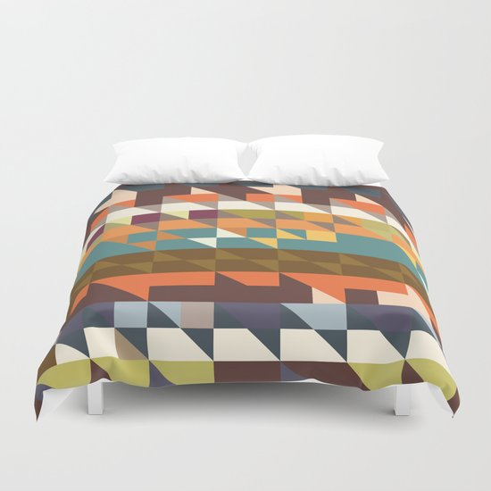 Shapes in retro colors Duvet Cover