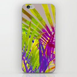 Pop Art Neon Leaf Pattern No. 2 iPhone Skin