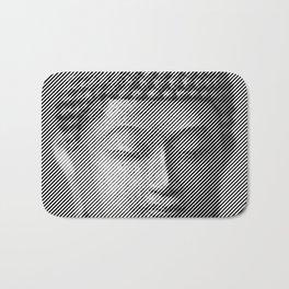 Buddha Face Statue Bath Mat