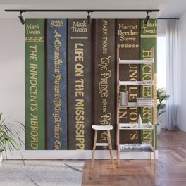 Old Books - Square Twain Wall Mural
