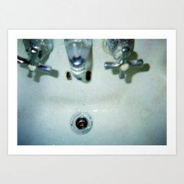Damaged Disposable Camera Film - Sink Art Print
