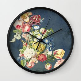 Floral Tribute to Louis McNeice Wall Clock