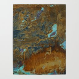 Blue Lagoons in Rusty World Poster
