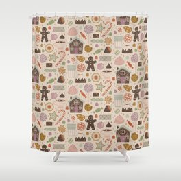 Gingerbread Man Shower Curtains