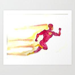Flash Watercolor Art Print