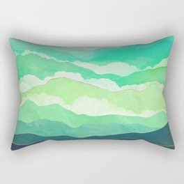 Emerald Spring Rectangular Pillow