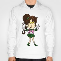 sailor jupiter Hoodies featuring Sailor Scout Sailor Jupiter by Space Bat designs