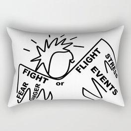 Anxiety Angel - Zine Art - Doodle Rectangular Pillow
