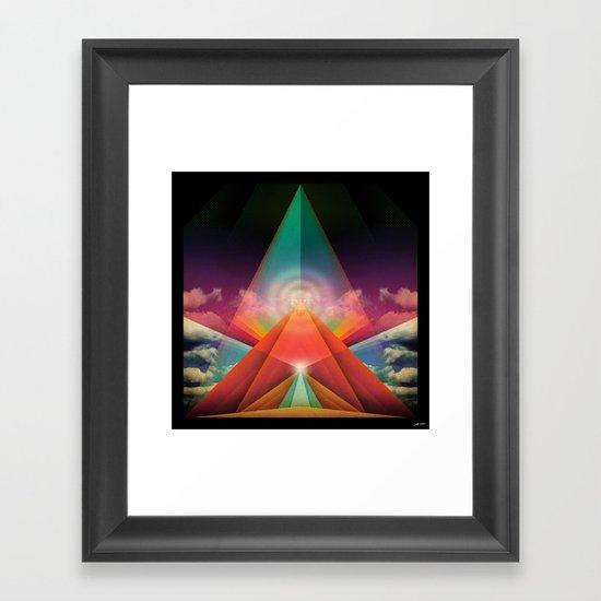 ∆ tune in Framed Art Print