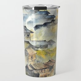 Morning in Chinese Village Travel Mug
