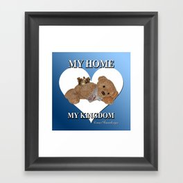 My Home, My Kingdom - Blue Framed Art Print