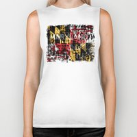 maryland Biker Tanks featuring Maryland Flag Print by david zobel